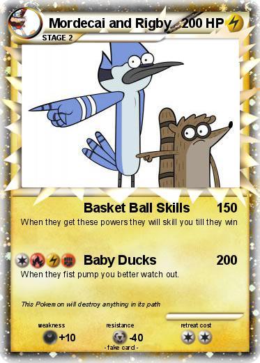 Pokémon Mordecai And Rigby 198 198 Basket Ball Skills My Pokemon