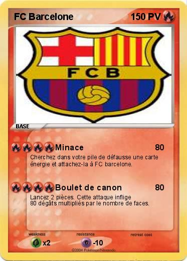 Pokemon Fc Barcelone Minace Ma Carte Pokemon