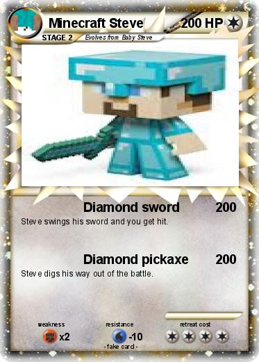 Pok 233 Mon Minecraft Steve 24 24 Diamond Sword My Pokemon