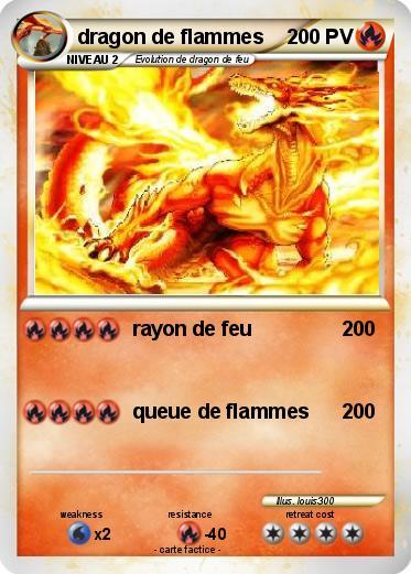 Pok mon dragon de flammes rayon de feu ma carte pok mon - Carte pokemon dragon ...