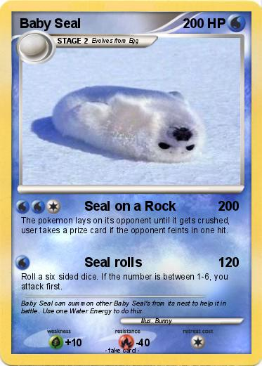 Pokemon Baby Seal 14 14 Seal On A Rock My Pokemon Card