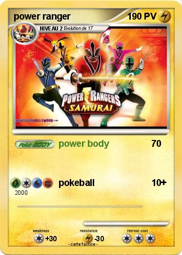 Pok mon power ranger 24 24 power body ma carte pok mon - Power rangers samurai dessin ...