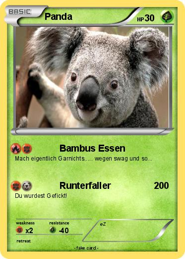 Pokemon Panda 757 757 Bambus Essen My Pokemon Card
