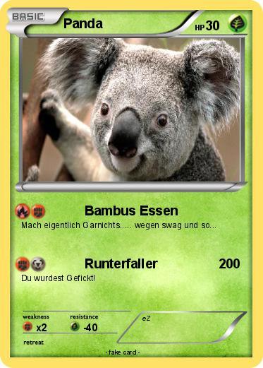 Pokemon Panda 757 757 Bambus Essen My Pokemon Card