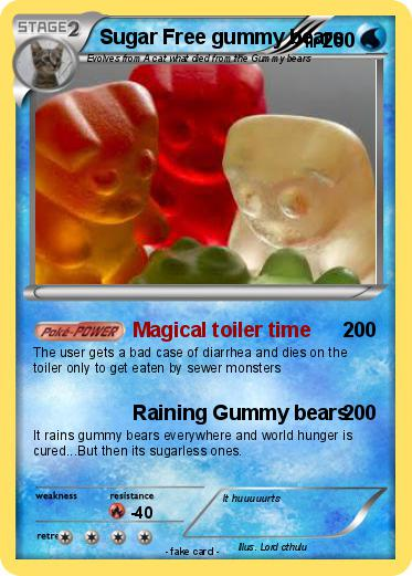 pokémon sugar free gummy bears magical toiler time my pokemon card