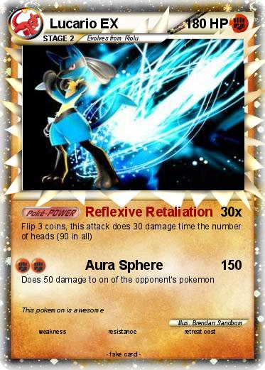 Pokémon Lucario EX 77 77 - Reflexive Retaliation - My ...