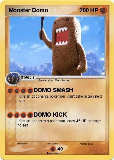 pokémon monster domo 1 1 domo smash my pokemon card