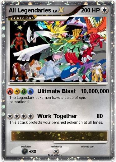 Pokémon All Legendaries 3 3 - Ultimate Blast 10,000,000 - My Pokemon