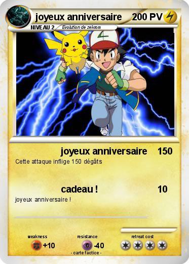 Souvent Pokémon joyeux anniversaire 17 17 - joyeux anniversaire - Ma carte  CS67