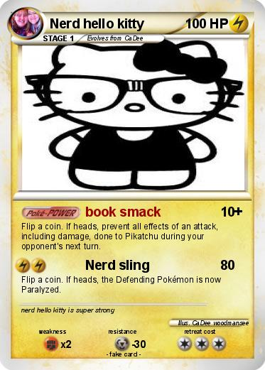 pokemon nerd hello kitty - Coloring Pages Kitty Nerd