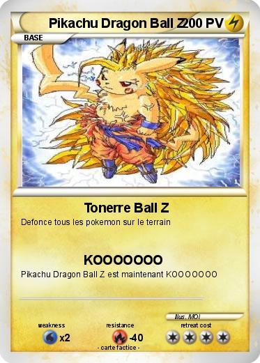 Pok mon pikachu dragon ball z tonerre ball z ma carte pok mon - Carte pokemon dragon ...
