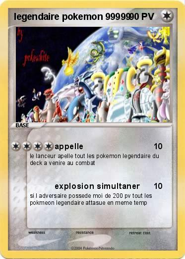 Pok mon legendaire pokemon 99999 99999 appelle ma - Pokemon legendaire pokemon y ...