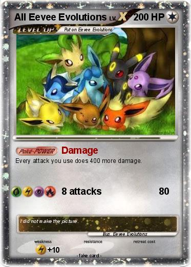 Pokemon All Eevee Evolutions