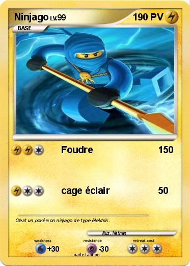 Pok mon ninjago 46 46 foudre ma carte pok mon - Carte ninjago ...