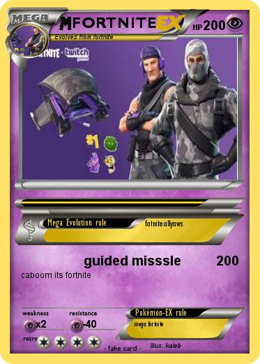 Pok 233 Mon Fortnite 30 30 Guided Misssle My Pokemon Card