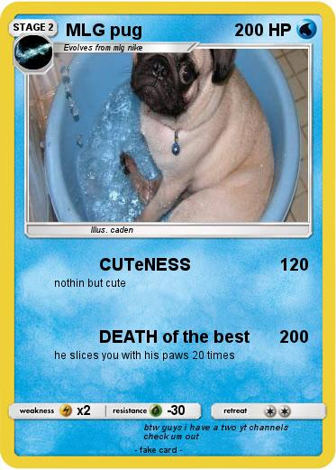Pokémon Mlg Pug 12 12 Cuteness My Pokemon Card