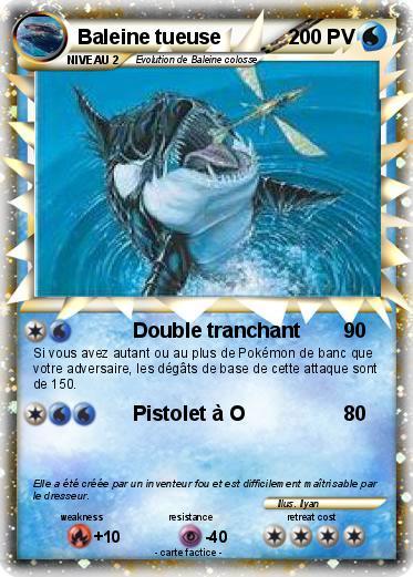 Pok mon baleine tueuse double tranchant ma carte pok mon - Pokemon baleine ...