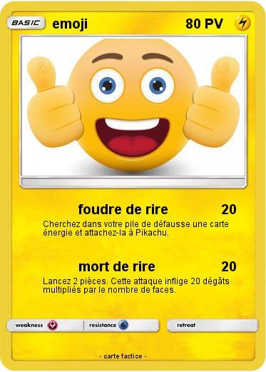 Pokémon Emoji 123 123 Foudre De Rire Ma Carte Pokémon