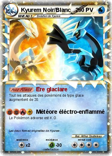 Pok mon kyurem noir blanc 2 1 1 ere glaciare ma carte - Pokemon legendaire blanc ...