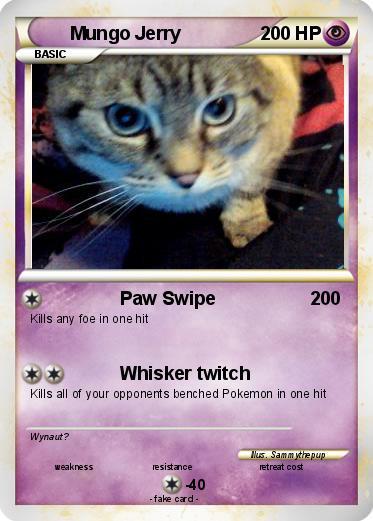 Pokémon Mungo Jerry Paw Swipe My Pokemon Card