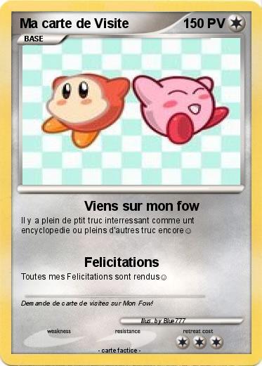 Pokemon Ma Carte De Visite
