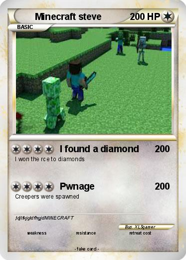 Minecraft Pokemon Card