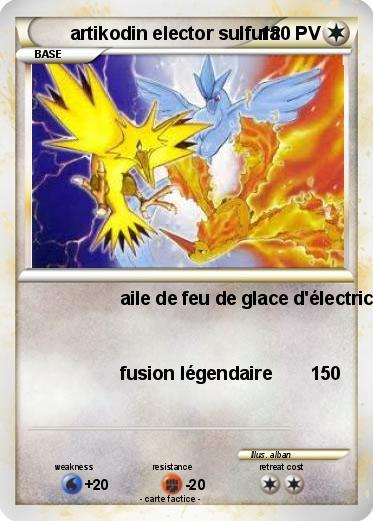 Pok mon artikodin elector sulfura aile de feu de glace d - Coloriage pokemon sulfura ...