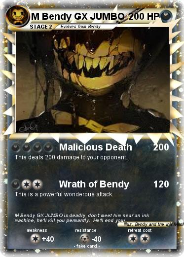 Pok 233 Mon M Bendy Gx Jumbo Malicious Death My Pokemon Card