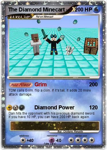 pokémon the diamond minecart 5 5 grim my pokemon card