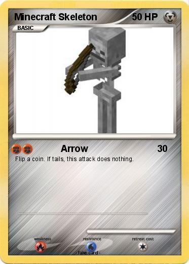 Pokémon Minecraft Skeleton 9 9 - Arrow - My Pokemon Card