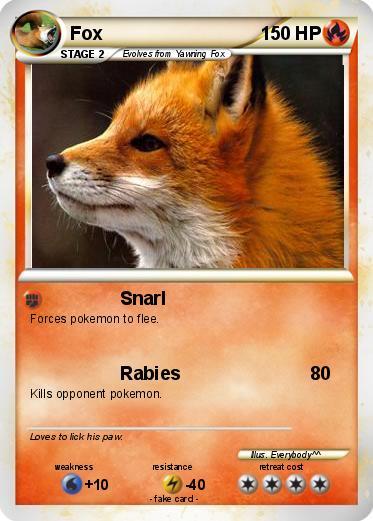 Pokémon Fox 167 167 - Snarl - My Pokemon Card