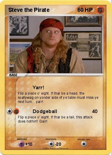 pokémon steve the pirate yarr my pokemon card