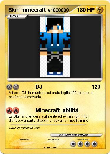Pokémon Skin minecraft 4 4 - DJ - My Pokemon Card