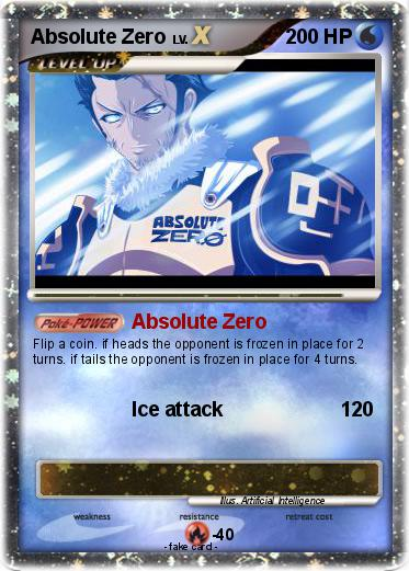 pokémon absolute zero 3 3 absolute zero my pokemon card