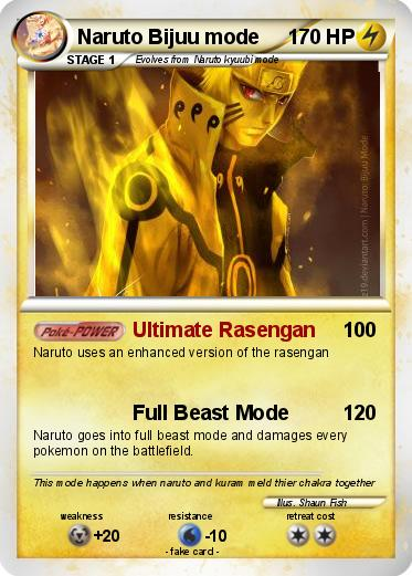 pokémon naruto bijuu mode 1 1 ultimate rasengan my pokemon card