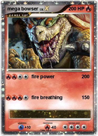 pok233mon mega bowser 68 68 fire power my pokemon card