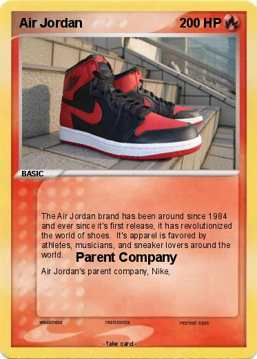 Pokemon Air Jordan. Language Card : english