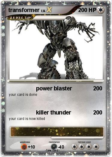 pok233mon transformer 21 21 power blaster my pokemon card