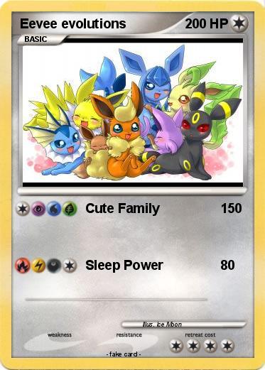Pok mon eevee evolutions 23 23 cute family my pokemon card - Pokemon perle evolution ...