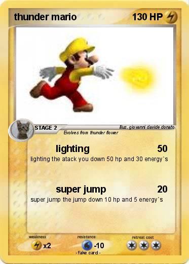 Pokemon thunder mario  sc 1 st  My pokemon card & Pokémon thunder mario - lighting - My Pokemon Card azcodes.com