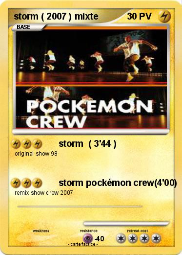Pokemon Storm 2007 Mixte