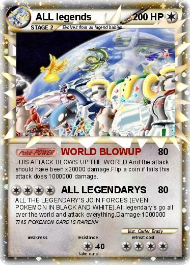 Pok 233 Mon All Legends 4 4 World Blowup My Pokemon Card