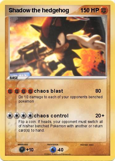Pok mon shadow the hedgehog 1 1 chaos blast my pokemon - Shadow the hedgehog pokemon ...