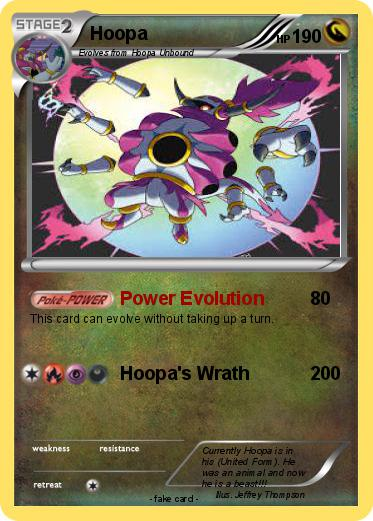 pokémon hoopa 221 221 power evolution my pokemon card