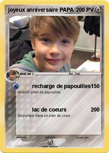 Pokemon Joyeux Anniversaire Papa Recharge De Papouilles Ma Carte