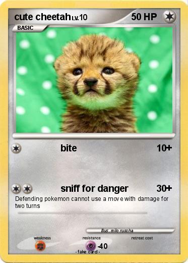 pokémon cute cheetah bite my pokemon card