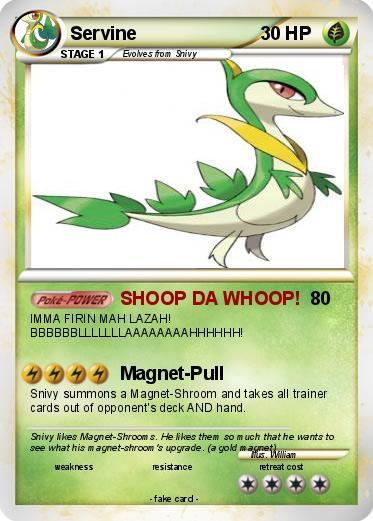 Pokémon Servine 5 5 - SHOOP DA WHOOP! - My Pokemon CardServine Pokemon Card
