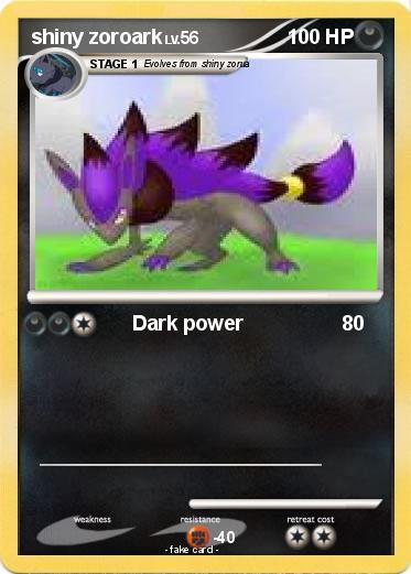 Pokémon shiny zoroark 7 7 - Dark power - My Pokemon Card  Shiny Zoroark Card