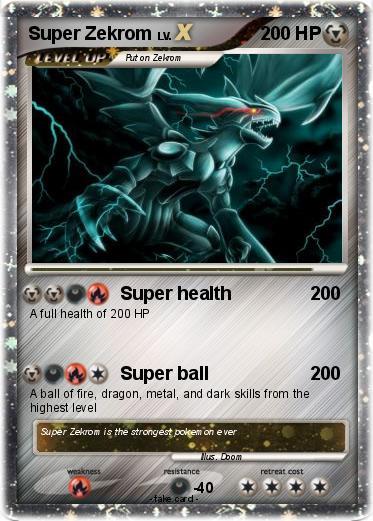 pok233mon super zekrom 10 10 super health my pokemon card
