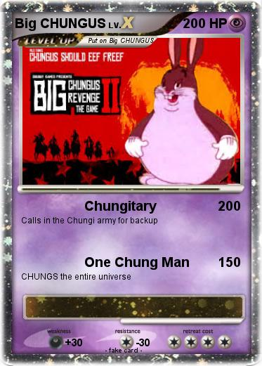 Pokemon Big Chungus 24 24 Chungitary My Pokemon Card